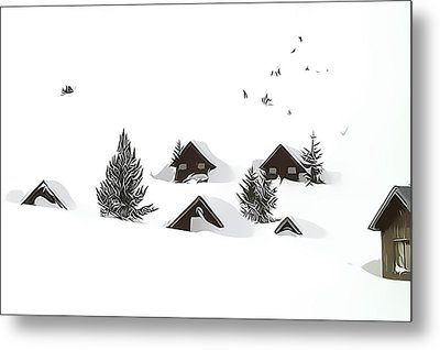 Snowed In Metal Print by Gareth Davies
