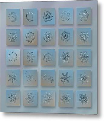 Snowflake Collage - Season 2013 Bright Crystals Metal Print