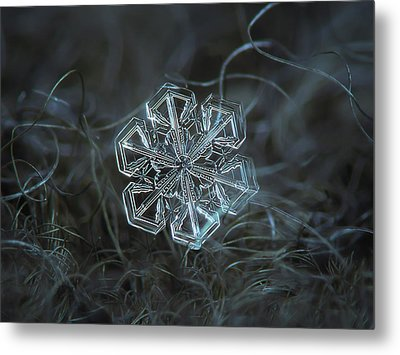 Metal Print featuring the photograph Snowflake Photo - Alcor by Alexey Kljatov