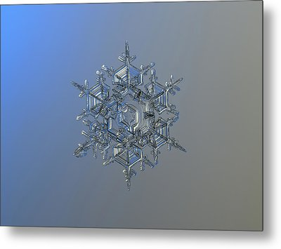 Snowflake Photo - Crystal Of Chaos And Order Metal Print by Alexey Kljatov