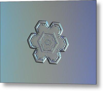 Snowflake Photo - Flower Within A Flower Metal Print by Alexey Kljatov