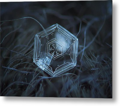 Metal Print featuring the photograph Snowflake Photo - Hex Appeal by Alexey Kljatov