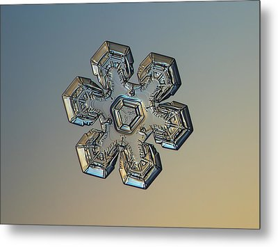 Metal Print featuring the photograph Snowflake Photo - Massive Gold by Alexey Kljatov