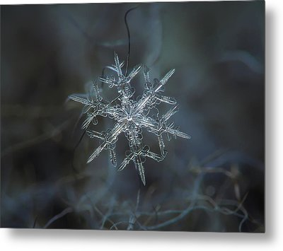 Metal Print featuring the photograph Snowflake Photo - Rigel by Alexey Kljatov