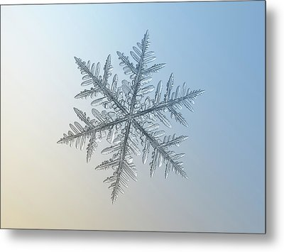 Metal Print featuring the photograph Snowflake Photo - Silverware by Alexey Kljatov