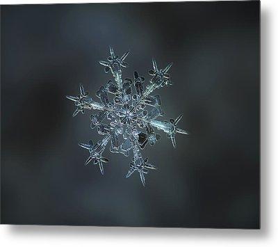 Snowflake Photo - Starlight II Metal Print by Alexey Kljatov