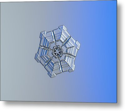 Metal Print featuring the photograph Snowflake Photo - Winter Fortress by Alexey Kljatov