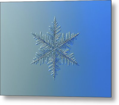 Metal Print featuring the photograph Snowflake Photo - Winter Is Coming by Alexey Kljatov
