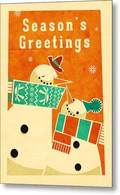Snowman 5 Metal Print by Daviz Industries