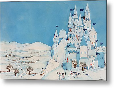 Snowman Castle Metal Print by Christian Kaempf