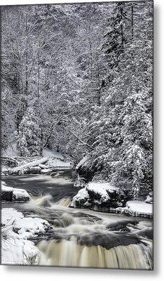 Snowy Blackwater Metal Print