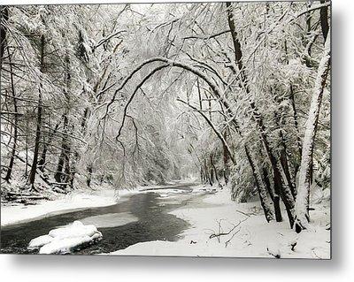 Snowy Clarks Creek Metal Print by Lori Deiter