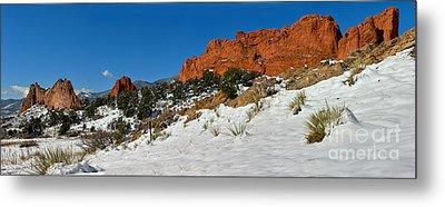 Metal Print featuring the photograph Snowy Fields At Garden Of The Gods by Adam Jewell