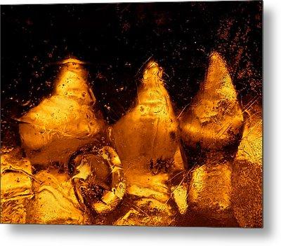 Snowy Ice Bottles Metal Print by Sami Tiainen
