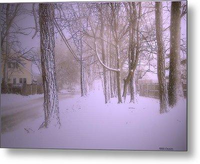 Snowy Landscape Metal Print by Mikki Cucuzzo