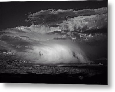 Metal Print featuring the photograph Snowy Mix Storm Over The Verde Valley by Ron Chilston