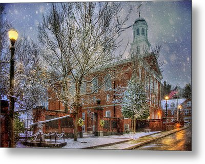 Snowy New England Morning In Peterborough New Hampshire Metal Print by Joann Vitali