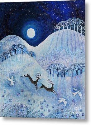 Snowy Peace Metal Print by Lisa Graa Jensen