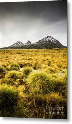 Snowy Tasmania Mountain Top Metal Print by Jorgo Photography - Wall Art Gallery