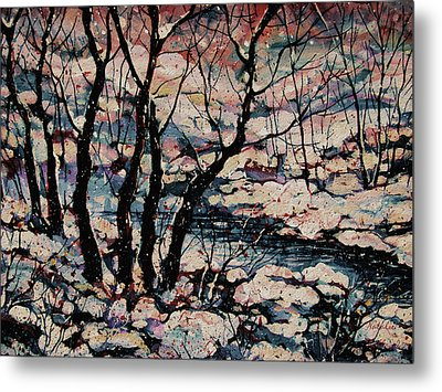 Snowy Woods Metal Print by Natalie Holland