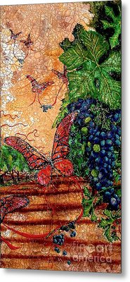 So Long And Thanks For All The Grapes Metal Print by Ron Carter