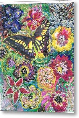 So Many Flowers So Little Time Metal Print by Anne-Elizabeth Whiteway