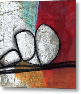 So We Begin- Abstract Art Metal Print by Linda Woods