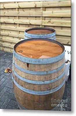 Soaked Barrels Metal Print