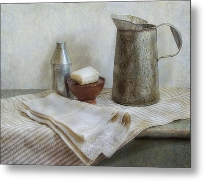 Soap And Water Metal Print by Robin-Lee Vieira