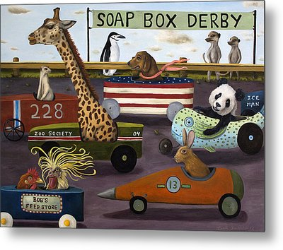 Soap Box Derby Metal Print by Leah Saulnier The Painting Maniac