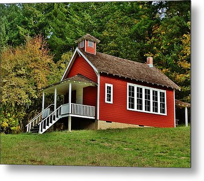 Soap Creek Schoolhouse Metal Print by VLee Watson