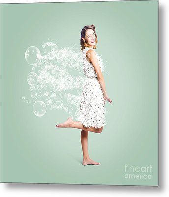 Soap Suds Pin Up Girl Metal Print by Jorgo Photography - Wall Art Gallery