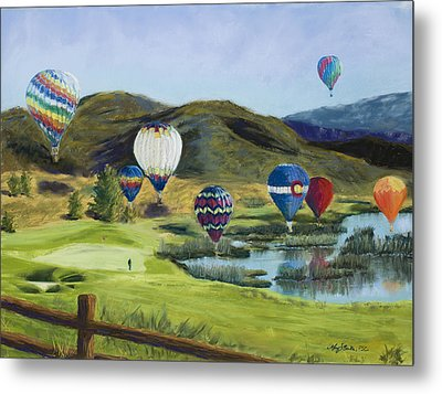Soaring Over Colorado Metal Print