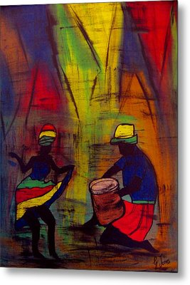 Soca Dancing Metal Print by Glenda  Jones