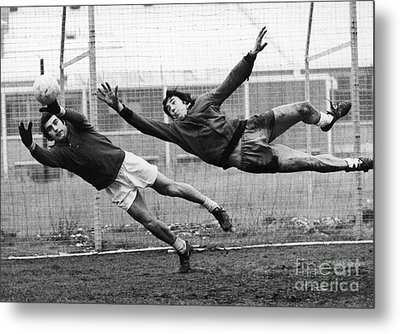 Soccer Goalies, 1974 Metal Print by Granger