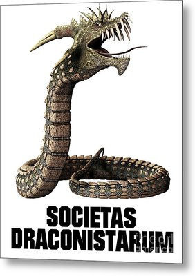 Society Of The Dragon Metal Print by Esoterica Art Agency