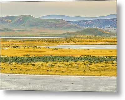 Metal Print featuring the photograph Soda Lake To Caliente Range by Marc Crumpler