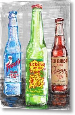 Soda Pops Metal Print by Russell Pierce