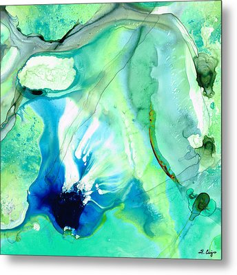 Soft Green Art - Gentle Guidance - Sharon Cummings Metal Print