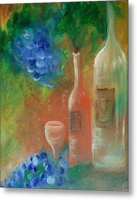 Soft Lite Wine Metal Print by Lynda McDonald