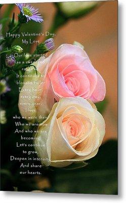 Soft Pastel Roses Metal Print