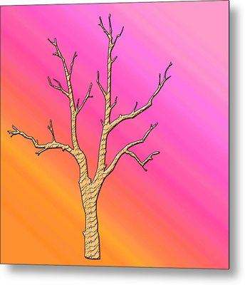 Soft Pastel Tree Abstract Metal Print by Aimee L Maher Photography and Art Visit ALMGallerydotcom