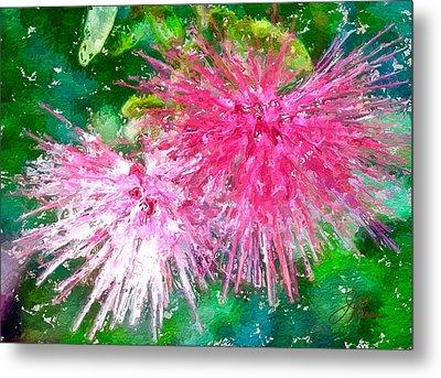 Soft Pink Flower Metal Print by Joan Reese