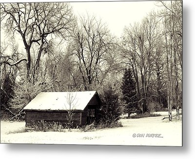 Metal Print featuring the photograph Soft Snow Cover by Don Durfee
