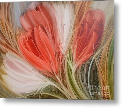 Soft Tulips Metal Print by Fatima Stamato