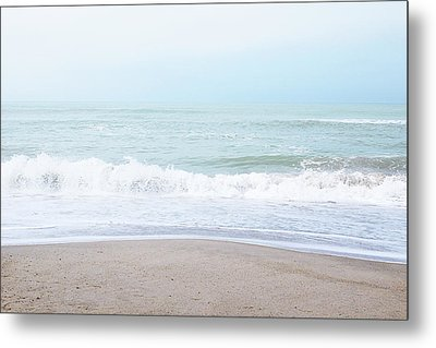 Metal Print featuring the mixed media Soft Waves 2- Art By Linda Woods by Linda Woods