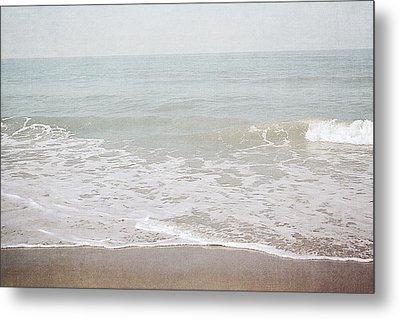 Metal Print featuring the mixed media Soft Waves- Art By Linda Woods by Linda Woods