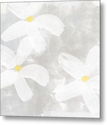 Soft White Flowers Metal Print