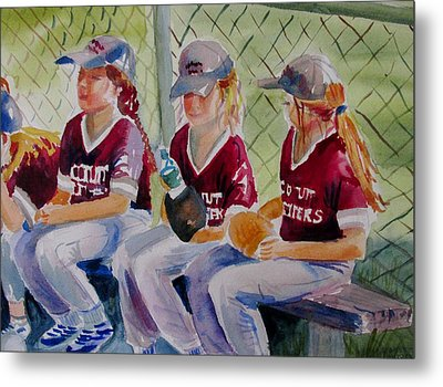 Softball  Metal Print by Linda Emerson