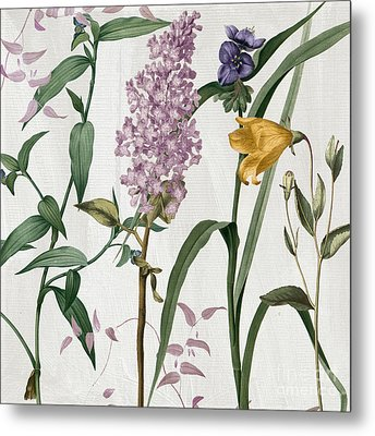 Softly Lilacs And Crocus Metal Print by Mindy Sommers